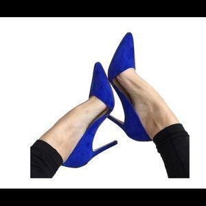 BANANA REPUBLIC blue suede heels